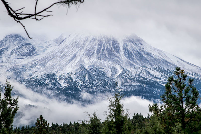 Mt. Shasta Come Winter Beauty In Nature Cold Temperature Day Ethereal Growth Idyllic Landscape Majestic Mountain Mountain Range Nature Non-urban Scene Outdoors Remote Scenics Sky Snow Snowcapped Mountain Solitude Tourism Tranquil Scene Tranquility Tree Weather Winter