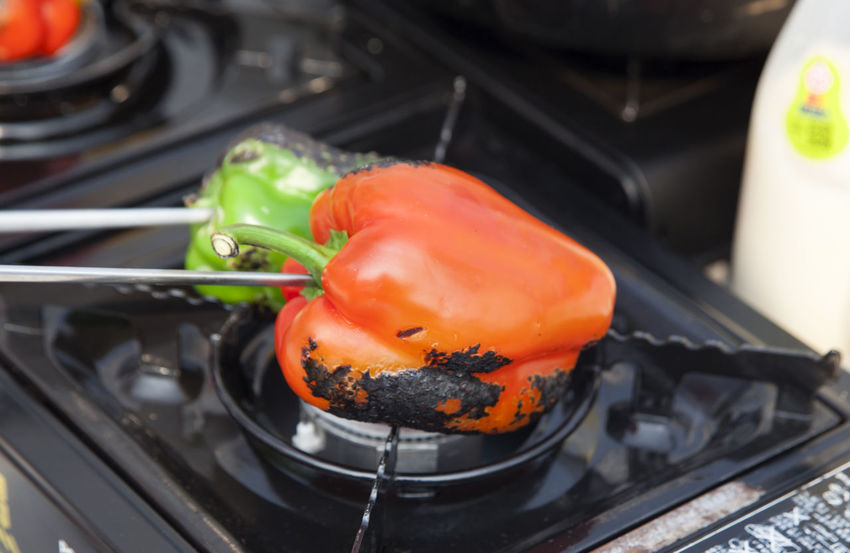 cooking festival Bell Pepper Burning Close-up Cooking Cuisine Day Horizontal Indoors  No People Paprica Red Vegetable