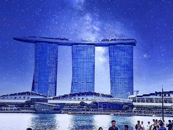 #marinabaysands #Singapore #gettyimage #Wallpaper Reflections In The Water Water City Cityscape Sky Architecture Close-up Building Exterior Built Structure