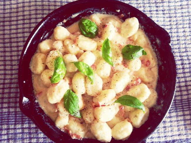 Homemade Gnocchi Carbonara