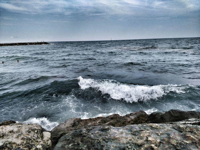 Close-Up Of Sea And Rocks