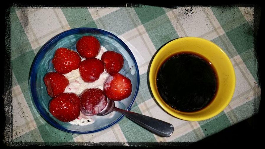 Strawberry ice cream ;-) Dessert Strawberry Enjoying Life Relaxing