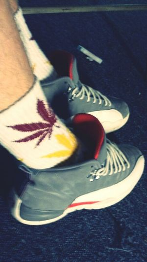 12's with my mota socks lol (; Jordan's  Dope Socks
