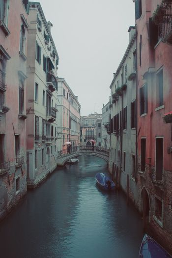 A throwback to Venice... Backgrounds Italy Rain Venice History Pastel Tones Architecture Canal Nautical Vessel Building Exterior Water Boat Built Structure Clear Sky Outdoors Travel Destinations Sky Day Adventures In The City
