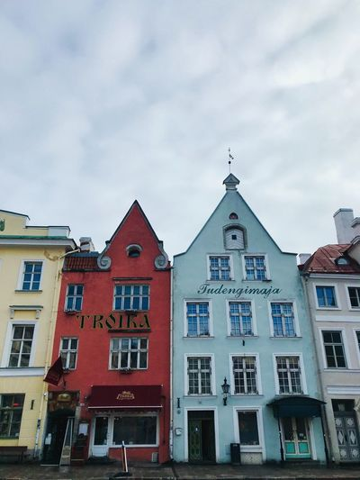 Baltic Countries Architecture Tallinn Estonia Tallinn Old Town Tallinn Estonia Architecture Building Exterior Built Structure Sky Building Cloud - Sky Window History City Residential District Day The Past Tower Sunlight Outdoors No People Communication House Low Angle View