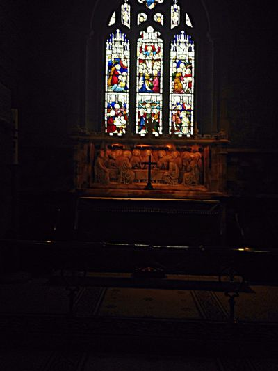 Church Old Church Creative Light And Shadow Altar Stained Glass
