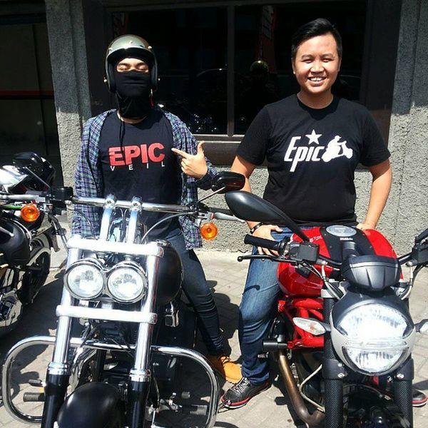Ready to ride! Epic Epicveil Epicscooter Ducati Harleydavidson Bali TwoWheelers Bikersofinstagram