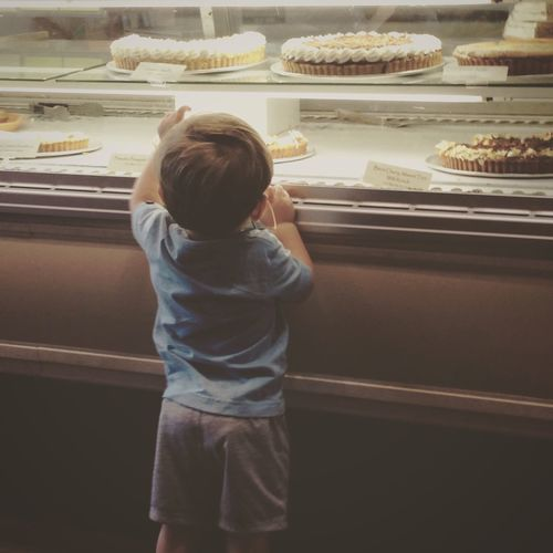 Toddler picking dessert Toddler  Dessert Shop Pastry Shop Baby And Cakes Baby At Dessert Shop Baby Boy Buy Cakes Baby Choosing CakeChildhood Indoors  One Person Real People Day