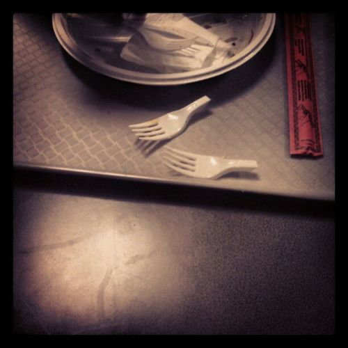 He was too hungry :)) Texicana Fastfood Fork Plastic stronghunger hunger lol funny FuckSwagWeWereHungry