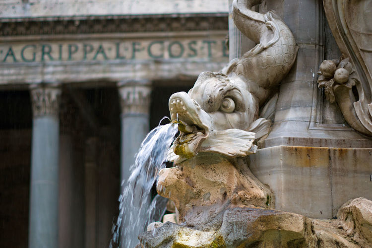 Details of the Fontana Del Pantheon in Rome, Italy. Architecture City EyeEm Best Shots EyeEm Selects Figure Fontana Del Pantheon Italia Pantheon Roma Rome Statue The Week on EyeEm Tourist Attraction  Art Baroque Culture Fontain Italy Landmark Photography Piazza Travel Destinations Visit Water
