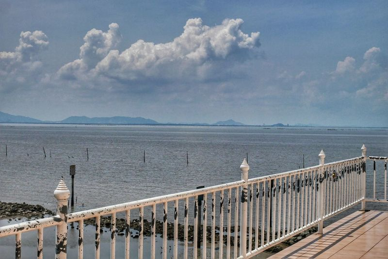Thailand Travel Sky Sea Beach Railing Outdoors Water Scenics Tranquility Travel Destinations No People Vacations Day Horizon Over Water Nature Beauty In Nature EyeEm EyeEm Team Thailand Photos Bangkok Thailand. Beauty