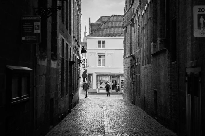 The light at the end of the tunnel... Or the street anyway... Streetphotography City Blackandwhite