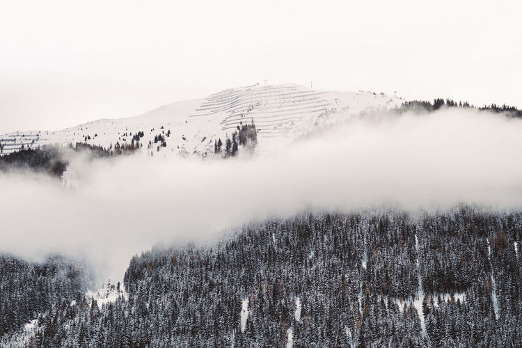 Beauty In Nature Cold Temperature Day Fog Foggy Foggy Morning Frozen Landscape Mountain Nature No People Outdoors Physical Geography Scenics Sky Snow Snow On Trees Snowcapped Mountain Tranquil Scene Tranquility Travel Destinations Tree Weather Wilderness Area Winter