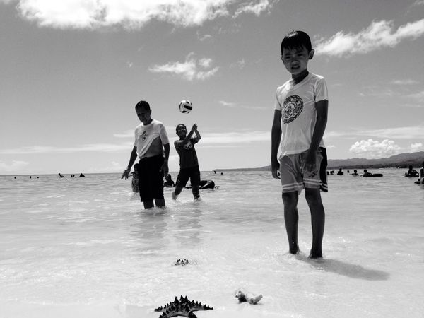 Monochrome Monochrome Photography Monochrome_life Black & White Beach SeaWater🌊 Hot Day Clear Sky People And Places Enjoying The Sun Enjoying The Sea Swimming Time Outdoors Togetherness Eyeem Philippines Olloclip Mobile Photography Iphoneonly