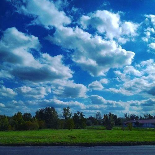 Clouds Blue Autumn Green Lastdayofsunshine