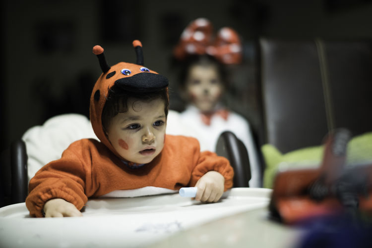 Baby Babygirl Built Structure Chair Check This Out Child Childhood Children Only Costume Cute Day Halloween Indoors  Ladybug Litter Looking At Camera Males  One Boy Only One Person People Portrait Smartphonephotography Smiling