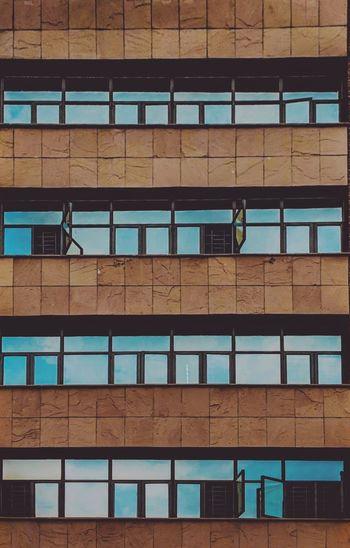 Built Structure Building Exterior Window Blue Reflection Architecture Symmetry