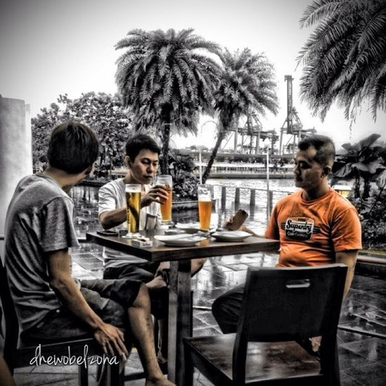 Hanging Out Blackandwhite Black And White Singapore Paulaner