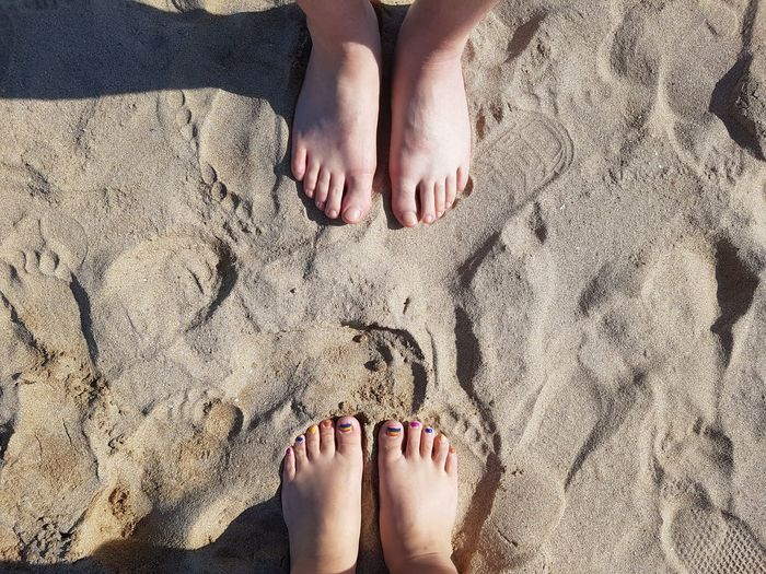 we look face to face. 해변 맨발 Face To Face Men Love Adult Beach Body Part Day High Angle View Human Body Part Human Leg Loveislove Nail Nail Polish Nature Real People Sand Standing Sunlight Toenail Women Foot FootPrint Love Is Love