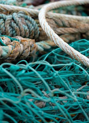 Rope Fishing Harbour Harbourside Pittenweem Fife  East Neuk Scotland Green Fine Art Photography