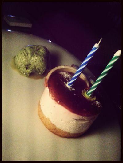 Cheesecake Birthday Icecream Strawberries