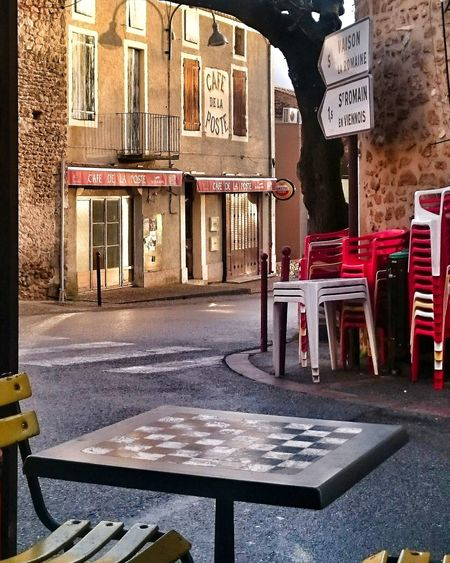 Anyone For Chess? Provence Sunset Architecture Building Exterior