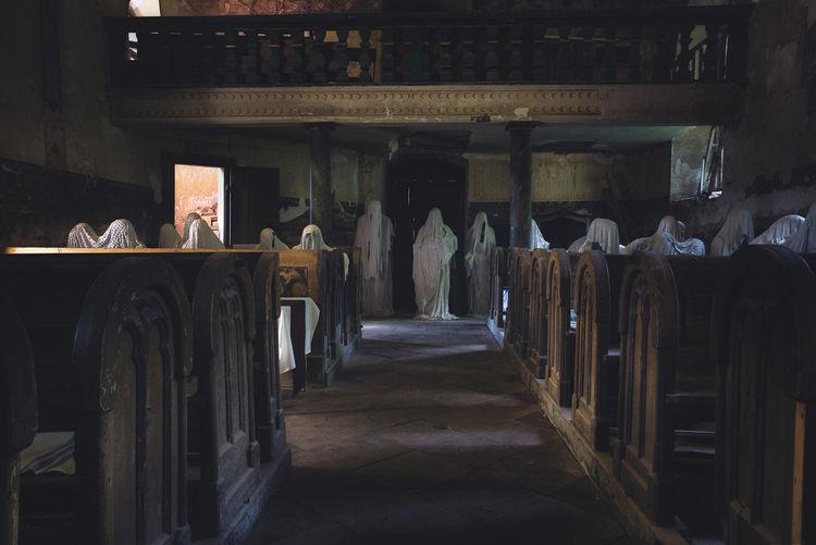 Interior of abandoned church