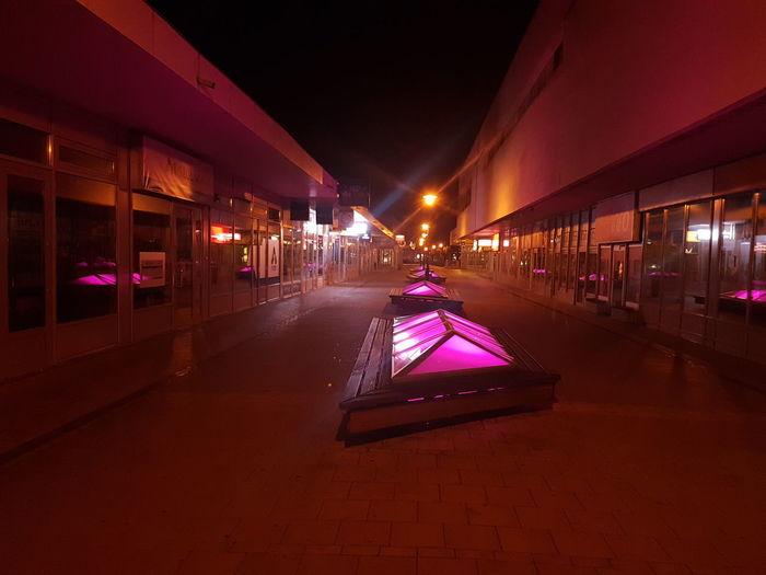 Hungary Tatabánya Galaxy S7 Pink Color City Night Street Night No People Night City