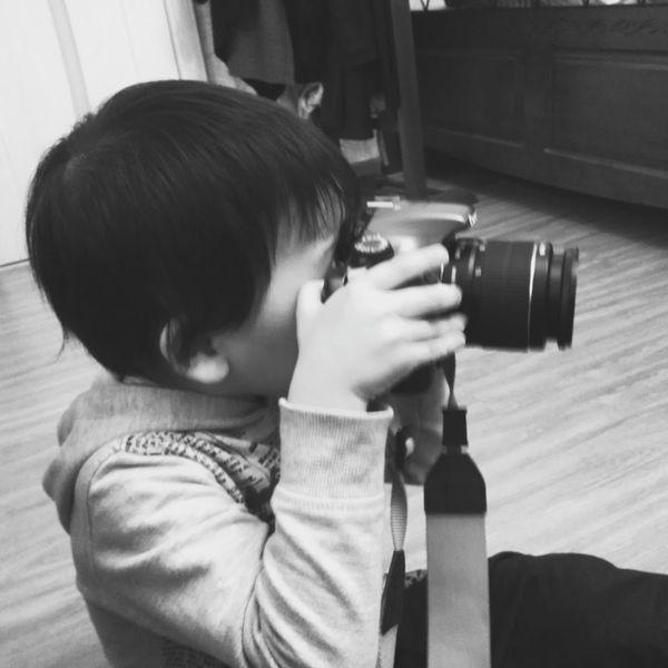 Cute Baby Taking Photos