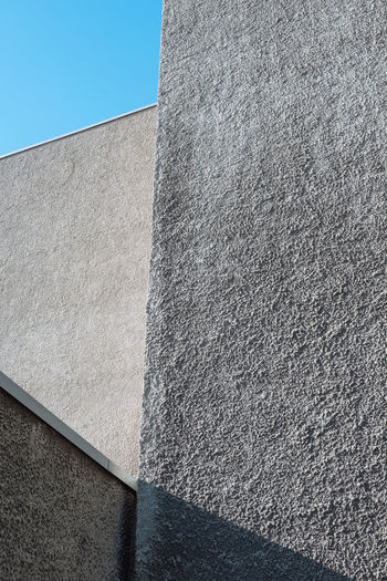 Architecture Berlin Berlin Photography Angles Angles And Lines Berliner Ansichten Building Concrete Concrete Jungle Concrete Wall Day Geometric Shape Geometry Low Angle View No People Outdoors Rough Stone Wall Wall - Building Feature