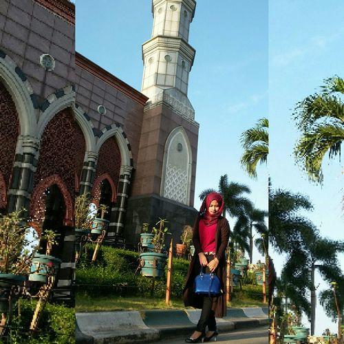 Masjid Dian Al-mahri,depok Idulfitri2015 2ndDayofidulfitri Iedmubarak Aqoh Fashion&style Hijabstyle  Hijabindo