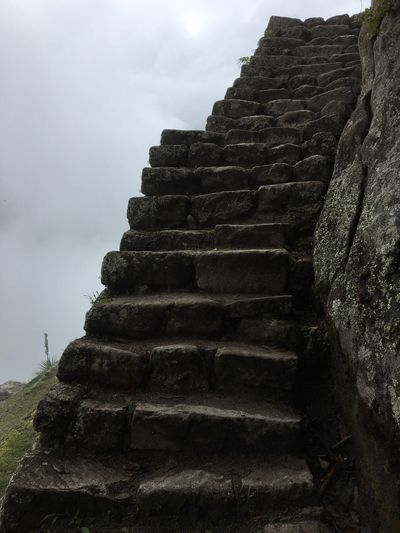Machu Picchu Architecture Steps Old Ruin Low Angle View Ancient Civilization Place Of Worship Spirituality History Sky Day Outdoors No People Built Structure Building Exterior Nature