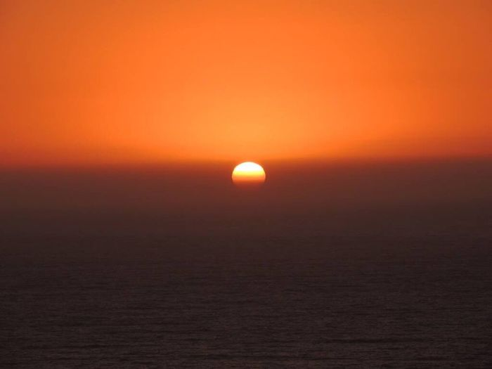 When The Sun Goes Down..♥ Sundown Perfect Sunset Sunset And Sea Horizon Over Sea Orange Sky Sunset_collection Sunsetlover Amazing Sunset In Front Of Me Enjoying The Moment No Edit/no Filter Reñaca Beach , Chile