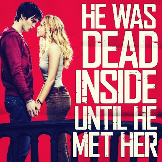 Can you imagine that a zombie can turn to a human just because of True Love<3 :))it's weird right ? hahaha sooooo Cool & Funny <3 . Watch this guysss ''Warm Bodies'', I'm telling you now it's beautiful :'''>