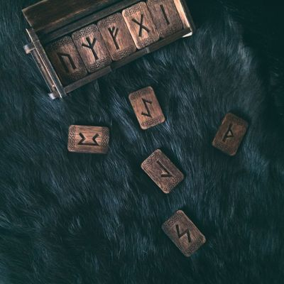EyeEm Selects Runes Celtic Wiccan Wicca  Witchy Witch Witchcraft  Witchboy Witchesofinstagram Tarotcards Tarot Indoors  Product Photography No People Close-up Product Wood - Material Symbol Text High Angle View First Eyeem Photo