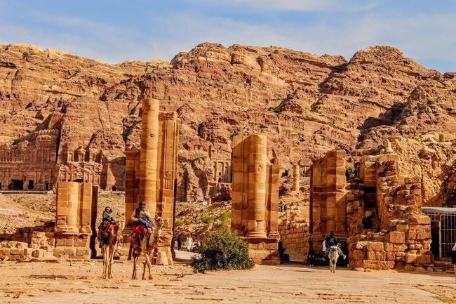 Ancient Architectural Column Architecture Dromedary History Mountain Old Ruin Travel Destinations