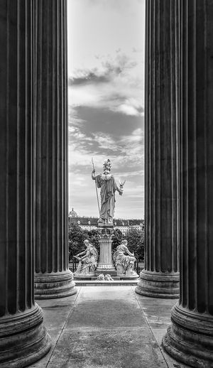 Imperial Sculpture in Vienna Architectural Column Architecture Art Columns History Monument Palace Sculpture Statue Travel Destinations