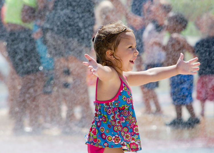 Little girl welcomes summer