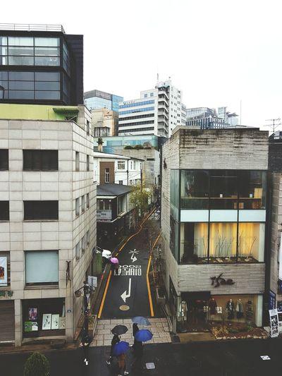 ~ Rain rain Go Away ~ Building Buildings High Rise Korea Seoul Insadong Rain Skyscraper Architecture Building Exterior Sky Built Structure Rainfall Umbrella Rainy Season Pedestrian Crosswalk