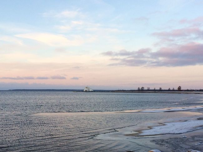 Northern Ostrobothnia Pastellcolours Finland Oulu Minusdegrees Ice Nallikari Sky Water Scenics - Nature Sea Beauty In Nature Land Beach Sunset Tranquility No People Nature Horizon Over Water Idyllic Outdoors