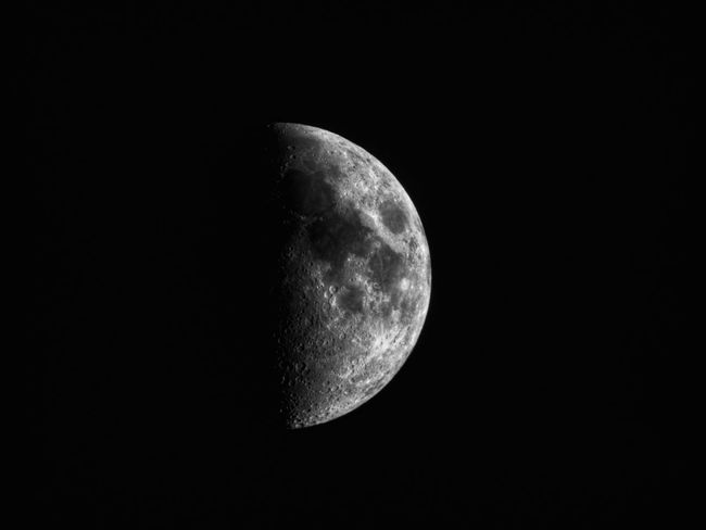 Moon Astronomy Night Moon Surface Space And Astronomy Planetary Moon Half Moon Beauty In Nature Scenics Space Space Exploration Nature Crescent Tranquil Scene Discovery Tranquility Sky Moonlight No People Outdoors EyeEmNewHere