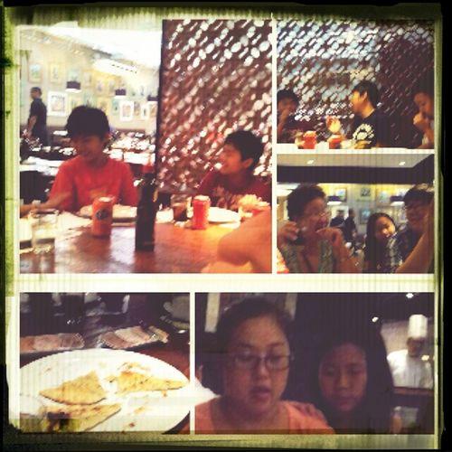 having dinner with family:)