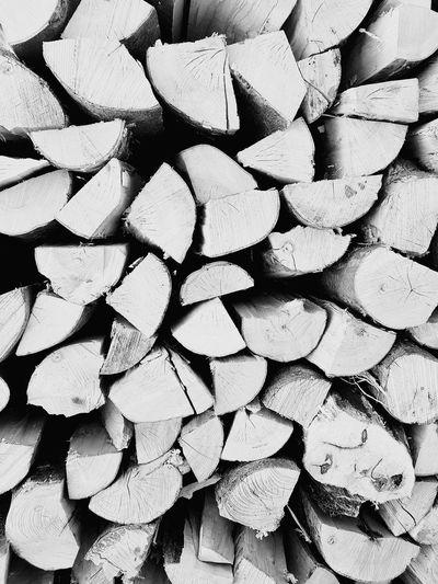 Full frame shot of tree logs