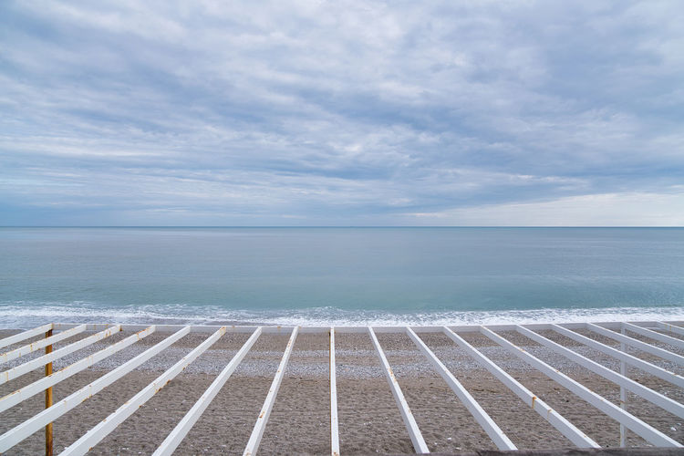 Sea Water Sky Horizon Over Water Horizon Cloud - Sky Scenics - Nature Beauty In Nature Tranquility Tranquil Scene Nature Day No People Idyllic Beach Land Outdoors Seascape