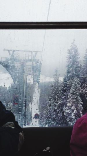 High Skilift Winter Snow Cold Temperature Enjoying Life Nature Skiing with Friends 🎿