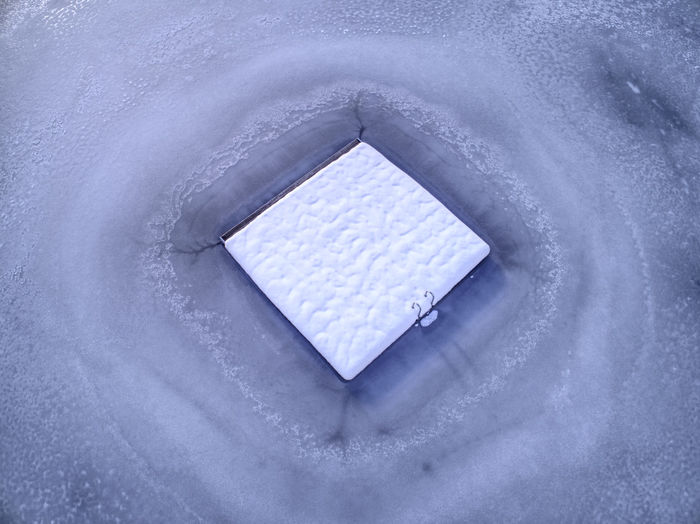 Frozen Ice Winter Birdseyeview Bluewater Dronephotography Lake