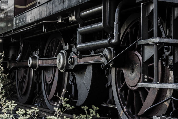 Locomotion Zug Close-up Day Land Vehicle Locomotive Locomotives Metal No People Old-fashioned Outdoors Steam Train Transportation Wheel