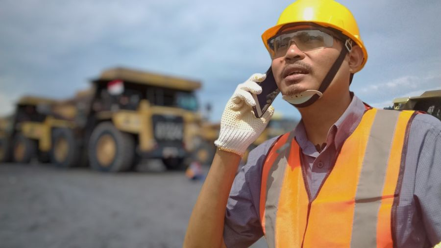 Man working at construction site