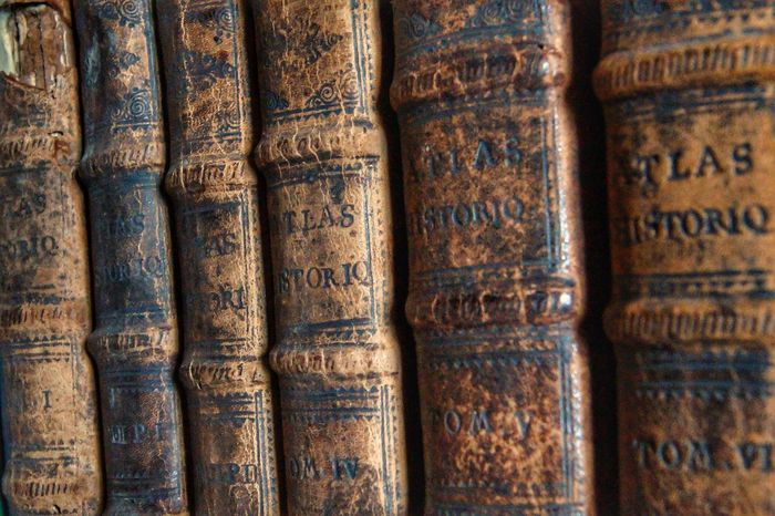 Book History Old Book Library In A Row Learning Wisdom Education No People Full Frame Backgrounds Close-up Indoors  Literature Science Book Cover Bookshelf antiquity