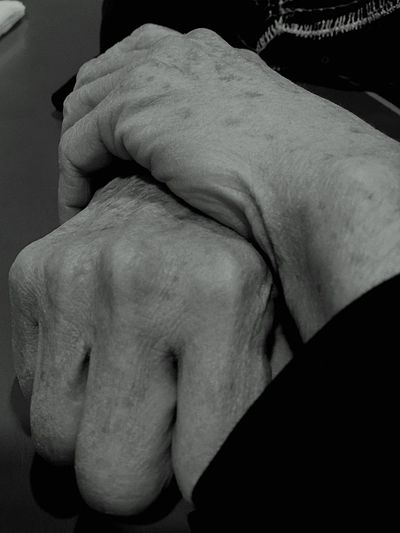 Human Hand Human Body Part Close-up Indoors  Two People Men Day Agitated Aging In Style